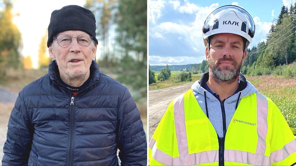 Ivan Granlund i Piparböle och Niklas Stark projektledare på Trafikverket