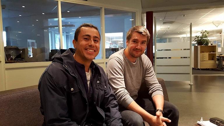 Eduardo Pettersson och Erik Eklund Energi- och klimatrådgivare på Umeå kommun som slår hål på myter om solceller