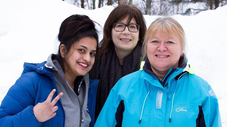 Ramya Kumar, Kristina Stiernspets och Lisbeth Wretling