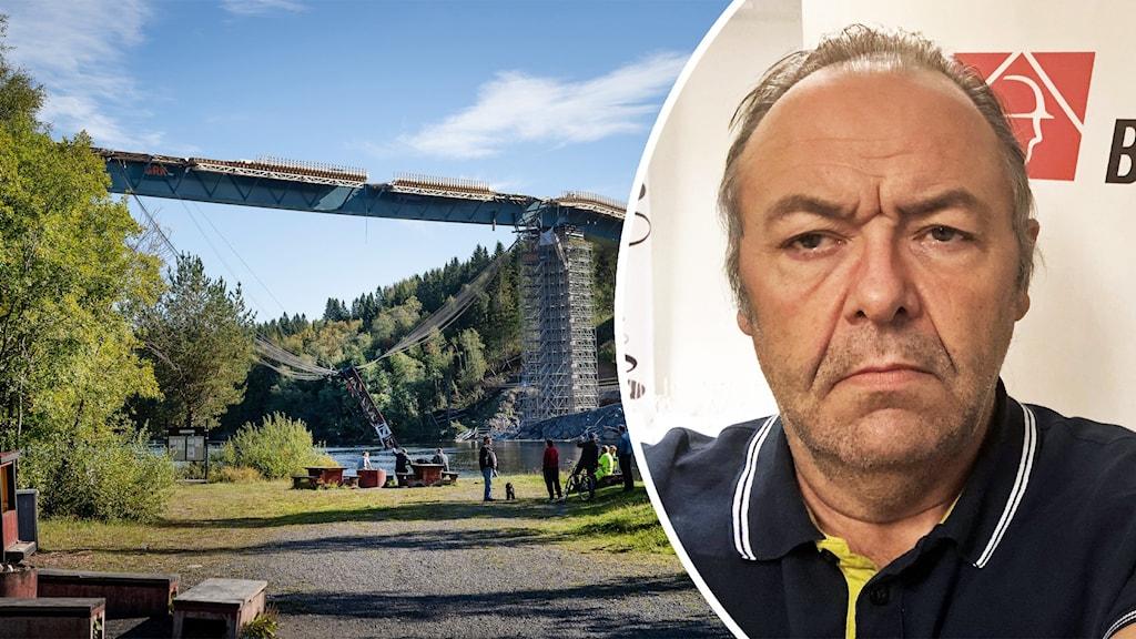 Thomas Rolén, ordförande för Byggnads i Västerbotten. Foto: Samuel Pettersson/TT och Agneta Johansson/Sveriges Radio