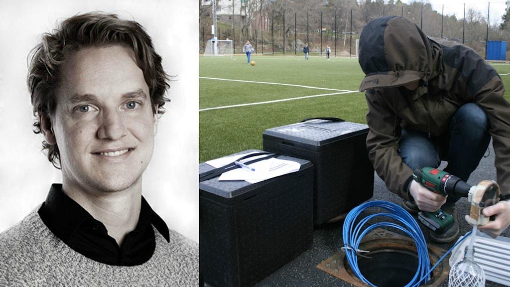 Simon Magnusson, idustridoktorand vid Luleå tekniska  universitet.