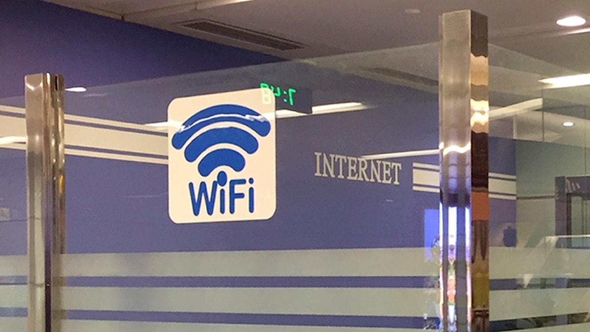 Wifi-skylt