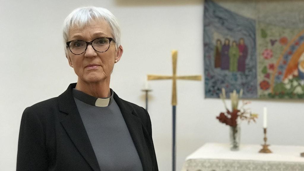 Lena Fagéus är kyrkoherde i Umeå pastorat foto Anders Wikström/Sveriges Radio