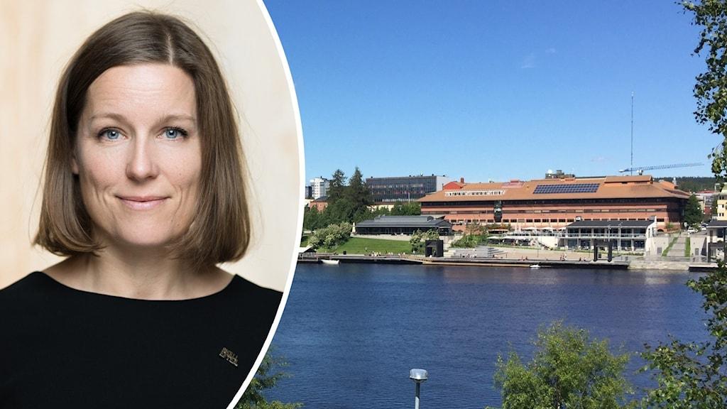 Helena Renström, marknadschef Skellefteå kommun. Foto: Skellefteå kommun och Hjalmar Åman/Sveriges Radio