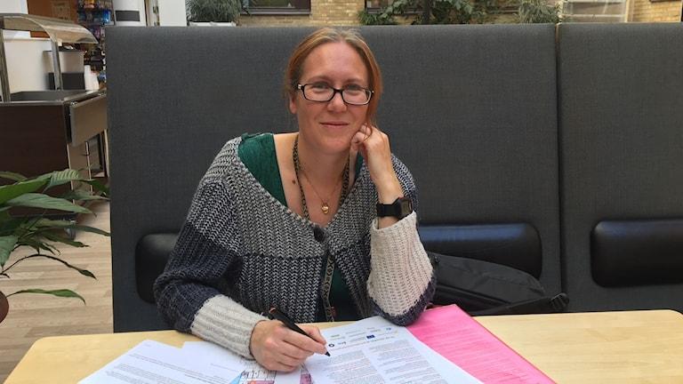 Petra Käck i KBC-huset på Umeå universitet