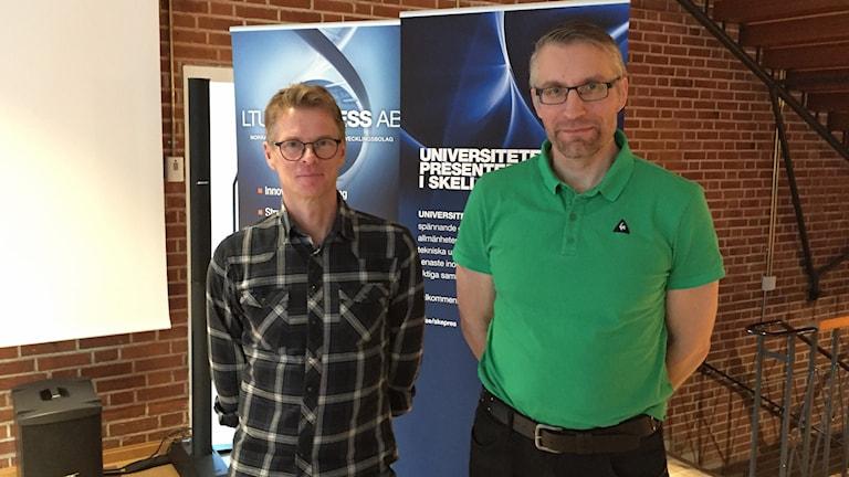 Christer Åhlund professor i distribuerade datorsystem vid Luleå tekniska Universitet, John Lindström är forskare i ett samarbetsprojekt mellan LTU och Umeå Universitet.