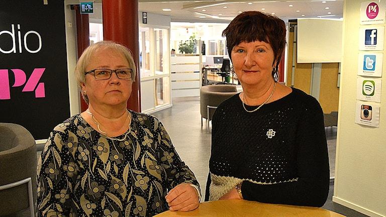 Harriet Hedlund och Ewa-May Karlsson. Foto: Peter Öberg, Sveriges Radio.