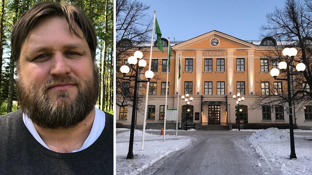 Andreas Lundgren, ordförande i individ- och familjenämnden i Umeå kommun. Foto: Anna Burén/Sveriges Radio och Agneta Johansson/Sveriges Radio