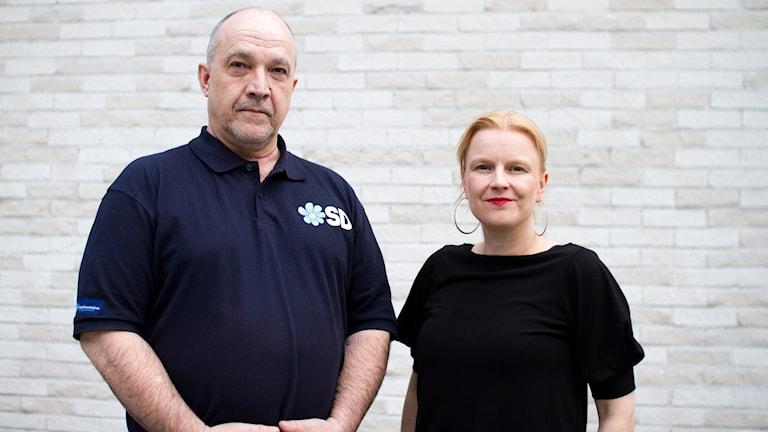 Marcus Bornemisza (SD) och Ulrika Edman (V)