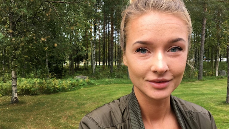 Emelie Sveed hemma igen efter stormen Irma Foto: Madeleine Harrati/SR Västerbotten