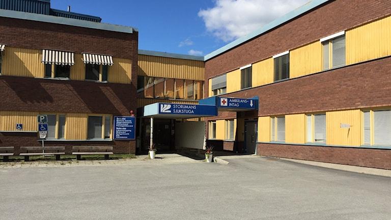 Entrén till Storumans sjukstuga