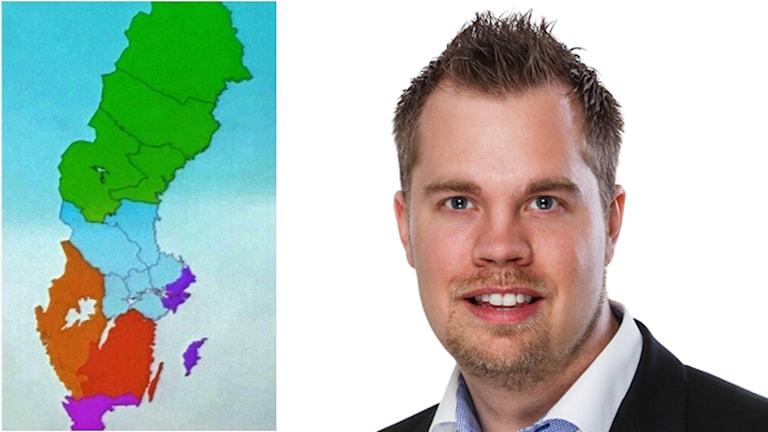 Nicklas Sandström, moderat politiker i Västerbotten.