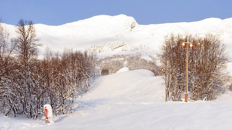 En del av skidanläggningen i Kittelfjäll