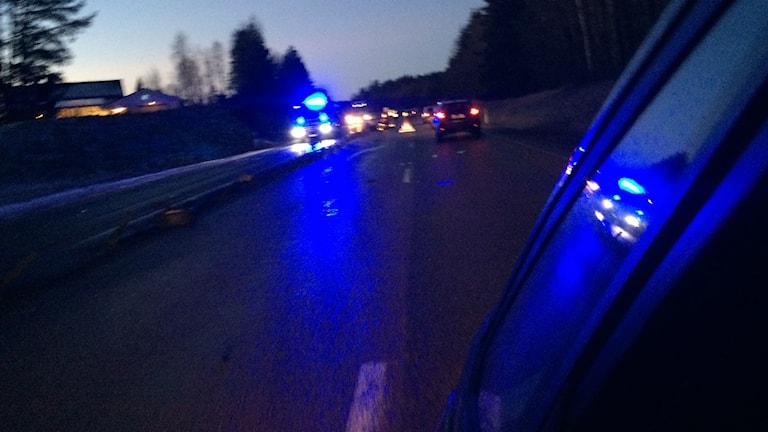 Trafikolycka på E4 i Timrå.