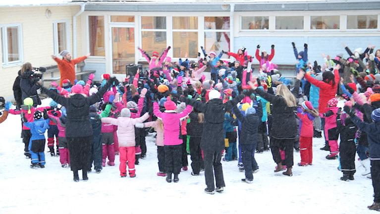 Elever vid Gerestaskolan i Härnösand