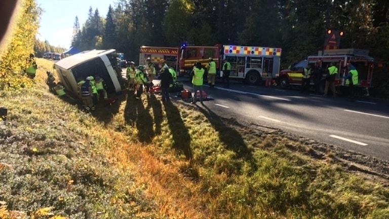 Räddningsövning bussolycka vid Stavreviken