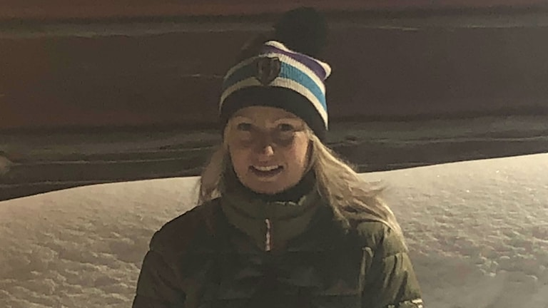Monia Häggqvist mötte tromber på vägen mellan Bredbyn och Ramsele.