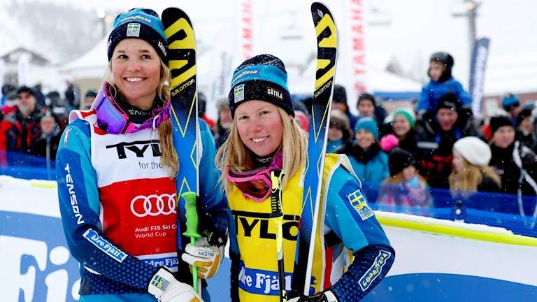 Anna Holmlund (tv) och Sandra Näslund.