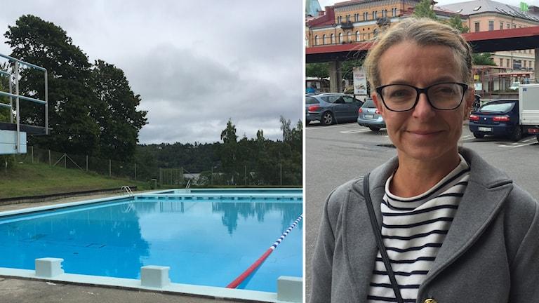 Malandsbadet och Ulrika Burvall, lokalstrateg på Kultur och fritid vid Sundsvall kommun.