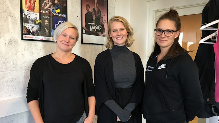 Malin Frykman, Sara Malm och Elin Söderström. Foto Ulla Öhman