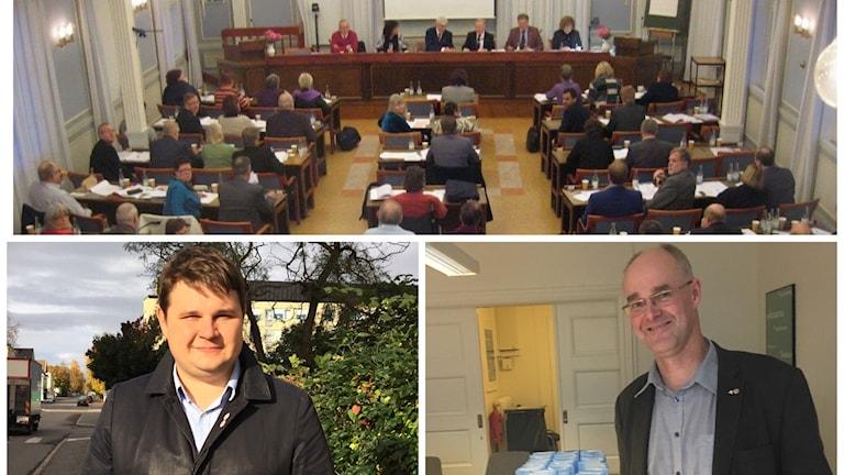 Niklas Säwen, Peter Sjöbom och Landstingsfullmäktige. Foto Ulla Öhman