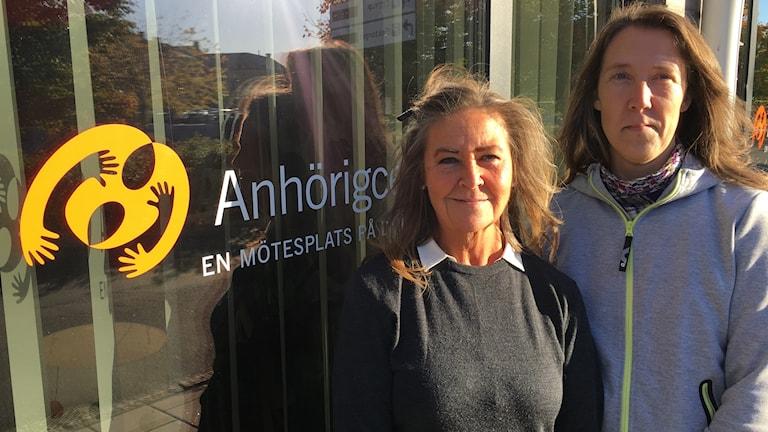 Lilli-Ann Forsberg och Ann Sofie Torstensson på Anhörigcenter i Sundsvall