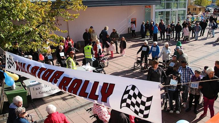 Rullatorrally i Kramfors arrangerades under lördagen.