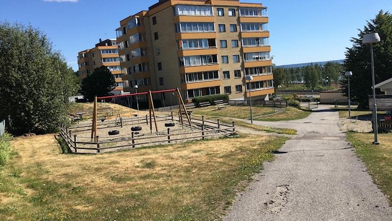 Lekpark på Bryggargatan i Timrå.