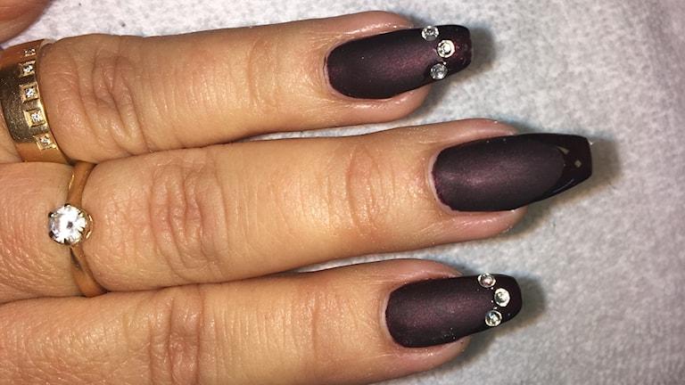 Birgiths nya naglar. Foto Ulla Öhman