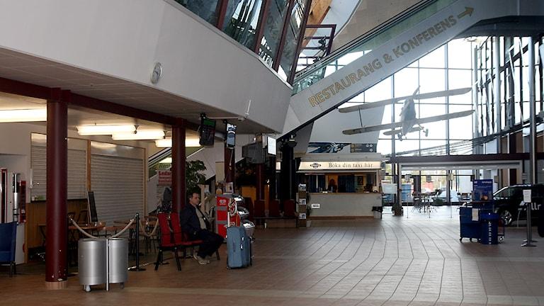 Vänthallen på Midlanda flygplats. Foto: Ingrid Engstedt Edfast
