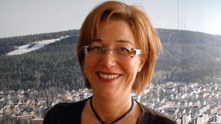 Maria Åslin, tillförordnad VD Sundsvall Arena - Himlabadet. Foto: Karin Lycke