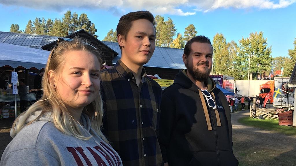 Frida Landberg, Samuel Isaksson och Markus Ljus