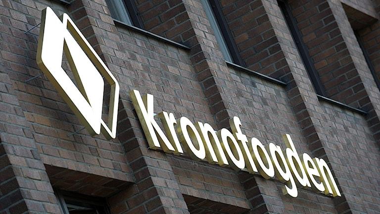 Skylt Kronofogden. Foto: Fredrik Sandberg/Scanpix.