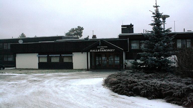 Hotell Hallstabergets entré innan upprustningen. Foto: Anna Ahlström / Sveriges Radio / Arkiv