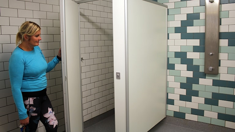 duschbås Arenaskolan, dusch, skoldusch.