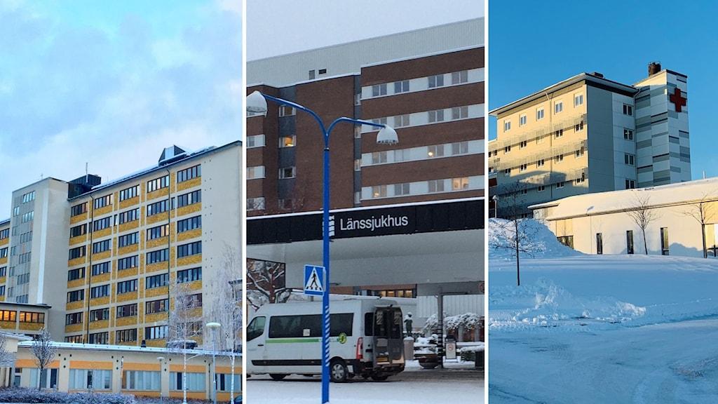Sollefteå sjukhus, Sundsvalls sjukhus, Örnsköldsviks sjukhus