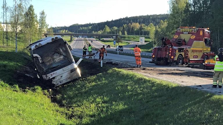 bussolycka ungdomar Bydalen