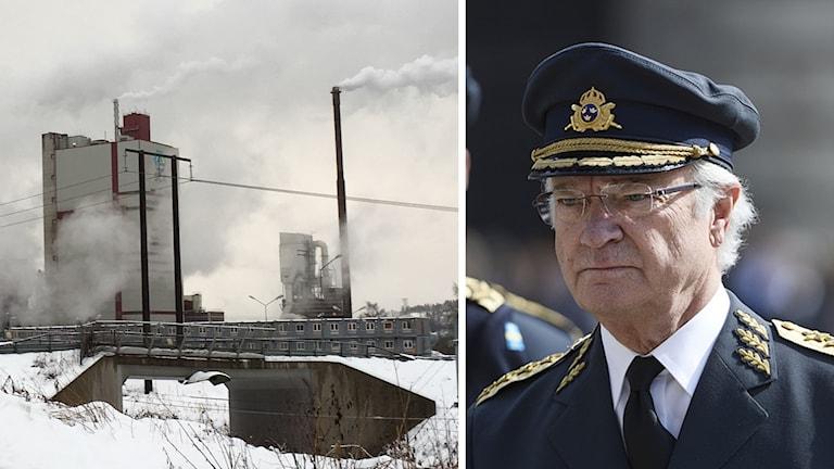Idag ska kung Carl XVI Gustaf klippa bandet, eller om det blir trycka på knappen, till den nya delen av Östrandsfabriken.