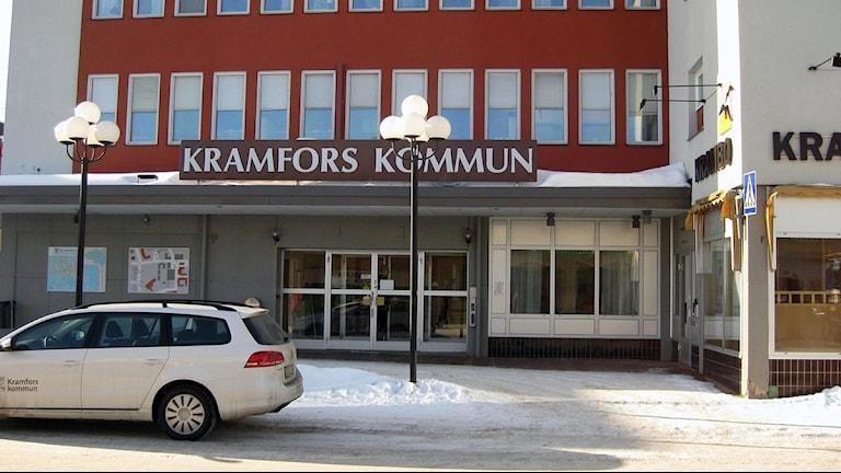 Entrén till Kramfors kommunhus. Foto: Ulla Öhman