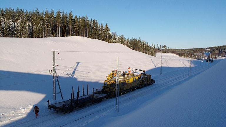 Foto från Ådalsbanan i vinter. Foto: Ulla Öhman.