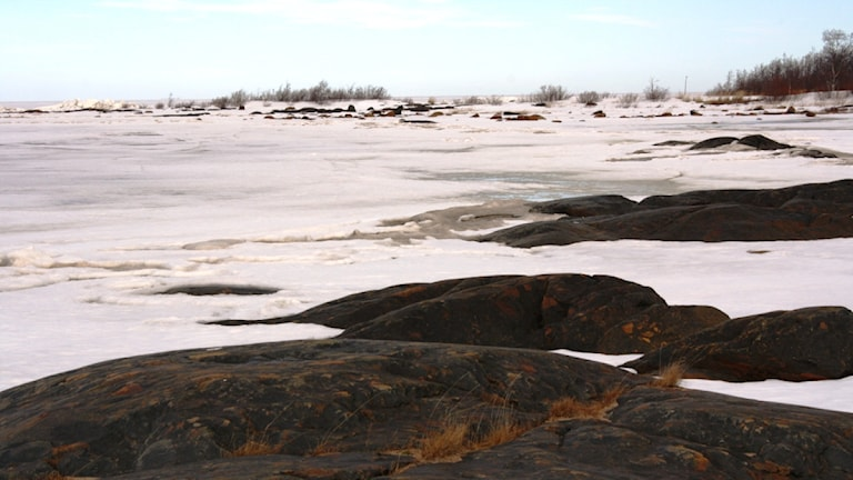 En bild av havet vid finska kusten.
