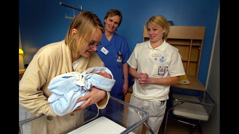 förlossningsvård foto: Lars Pehrsson SvD/Scanpix