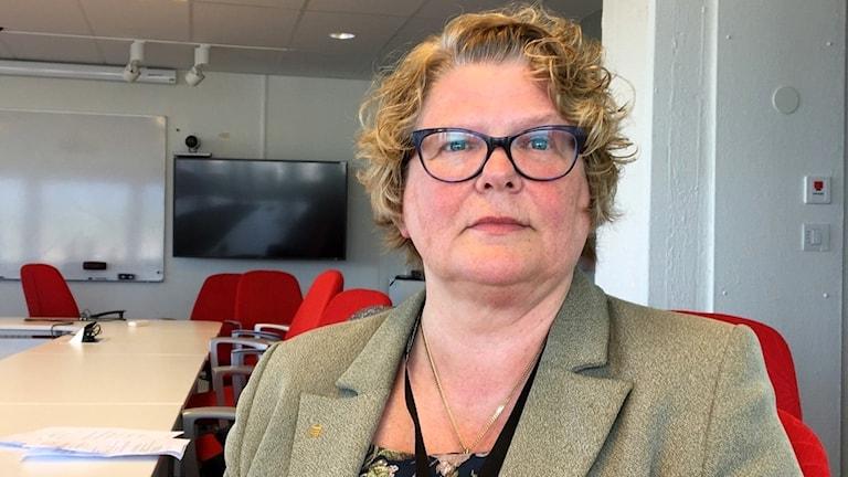 Porträtt på Inger Bergström, tidigare regiondirektör vid Landstinget i Västernorrland. Foto: Ulla Öhman/Sveriges Radio