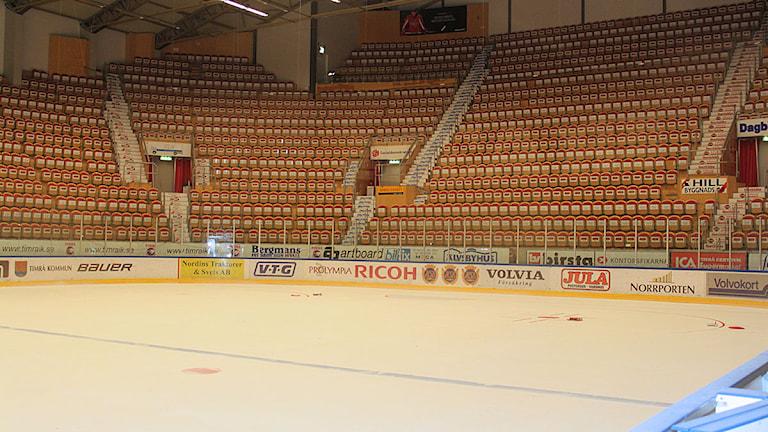 Inuti E.on Arena i Timrå. Foto: Therés Ulander.