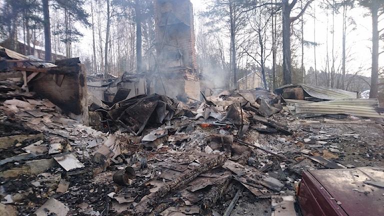 VIllabrand i Kramfors