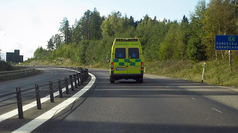 En ambulans. Foto: Ulla Öhman