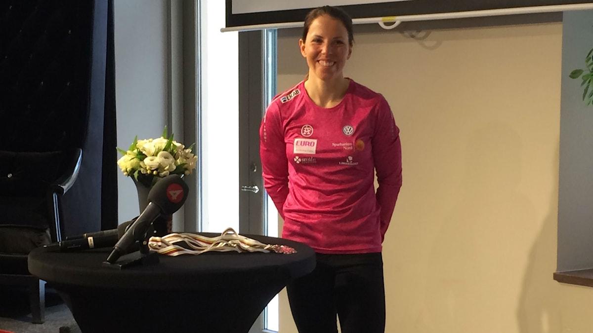 Charlotte Kalla stannar i Sundsvall. Foto: Stig Edfast