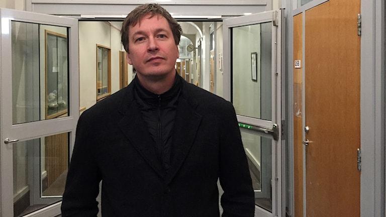 Markus Nordenberg, chef för elevhälsan vid hedbergskaområdet på Sundsvalls gymnasium. Foto: Billy Abraha/SR