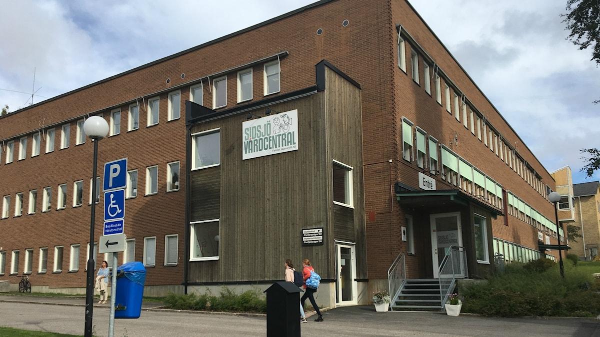 Exteriör Sidsjö vårdcentral i Sundsvall. Foto: Sara Johansson/Sveriges Radio