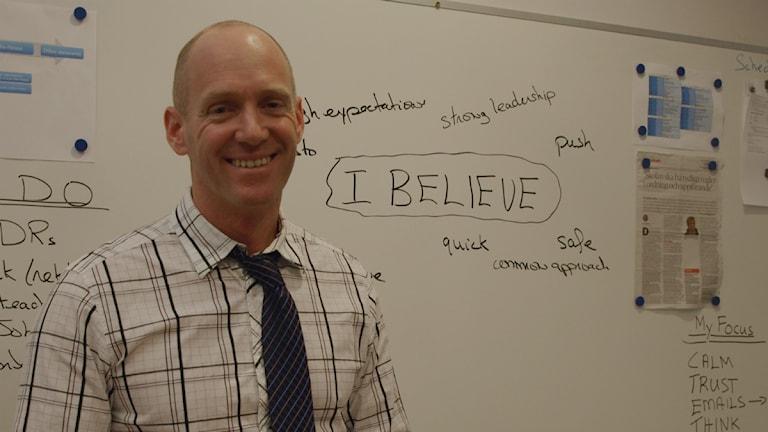 Pascal Brisson är rektor över 600 elever. Foto: Mikael Andersson
